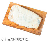 Top view of piece of local italian Gorgonzola soft blue cheese on... Стоковое фото, фотограф Zoonar.com/Valery Voennyy / easy Fotostock / Фотобанк Лори