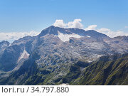 View of the top of Mount Fisht in the Caucasus from the slope of Mount Oshten. Стоковое фото, фотограф Евгений Харитонов / Фотобанк Лори