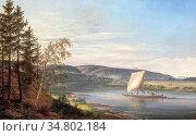 Dahl Johan Christian Clausen - Blick Auf Die Elbe Vom Cosels Garten... Редакционное фото, фотограф Artepics / age Fotostock / Фотобанк Лори