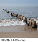 Wellenbrecher, Kueste, Sylt, Nordfriesische Insel, Nordfriesland,... Стоковое фото, фотограф Zoonar.com/Wirth / easy Fotostock / Фотобанк Лори