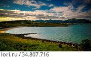 Sea panoramic view to Valbukta at Austvagoy, Lofoten, Norway. Стоковое фото, фотограф Zoonar.com/Sergey Mayorov / easy Fotostock / Фотобанк Лори
