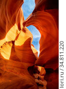Lower Antelope Canyon or Corkscrew slot canyon National park in the... Стоковое фото, фотограф Zoonar.com/Vichie81 / easy Fotostock / Фотобанк Лори