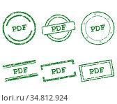 Pdf Stempel - Pdf stamps. Стоковое фото, фотограф Zoonar.com/Robert Biedermann / easy Fotostock / Фотобанк Лори
