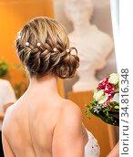 Wedding bouquet in hands of the bride at the mayor. Стоковое фото, фотограф Zoonar.com/Morad HEGUI / easy Fotostock / Фотобанк Лори