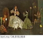 Ansingh Lizzy - Voor De Spiegel - Dutch School - 19th Century. Редакционное фото, фотограф Artepics / age Fotostock / Фотобанк Лори