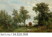 Borselen Jan Willem Van - Huiswaarts Na Het Hooien - Dutch School... Редакционное фото, фотограф Artepics / age Fotostock / Фотобанк Лори