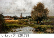 Rip Willem Cornelis - Na Den Regen, Gezicht Op 't Dorp Neerlangel... Редакционное фото, фотограф Artepics / age Fotostock / Фотобанк Лори