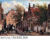 Springer Cornelis - Gezicht Te Enkhuyzen (View on Enkhuizen Below... Редакционное фото, фотограф Artepics / age Fotostock / Фотобанк Лори