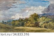 Mole John Henry - a Parkland Landscape - British School - 19th Century... Редакционное фото, фотограф Artepics / age Fotostock / Фотобанк Лори