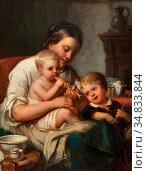 Canta Johannes Antonius - Moeder Met Haar Kinderen - Dutch School... Редакционное фото, фотограф Artepics / age Fotostock / Фотобанк Лори