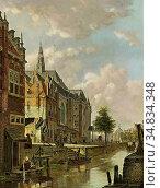 Hove Bart Van - a Dutch Town - Dutch School - 19th Century. Редакционное фото, фотограф Artepics / age Fotostock / Фотобанк Лори