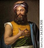 Kruseman Jan Adam - Portrait of Giovanni Belzoni (the Great Belzoni... Редакционное фото, фотограф Artepics / age Fotostock / Фотобанк Лори