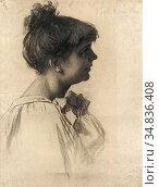 Schwartze Thérèse - Portret Van Een Jonge Vrouw 1 - Dutch School - ... Редакционное фото, фотограф Artepics / age Fotostock / Фотобанк Лори