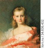 Schwartze Thérèse - Portret Van Prinses Wilhelmina Op 8-Jarige Leeftijd... Редакционное фото, фотограф Artepics / age Fotostock / Фотобанк Лори