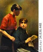 Smith Hobbe - De Brief - Dutch School - 19th Century. Редакционное фото, фотограф Artepics / age Fotostock / Фотобанк Лори