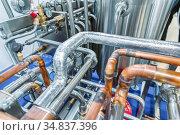 Industrial pipeline system. Стоковое фото, фотограф Андрей Радченко / Фотобанк Лори