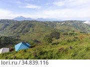 Africa, Ouganda, Collines d'Africa centrale, Volcans Virunga en arrière... Стоковое фото, фотограф Morales / age Fotostock / Фотобанк Лори