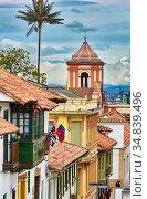 La Candelaria, Bogota, Cundinamarca, Colombia, South America. Стоковое фото, фотограф Javier Larrea / age Fotostock / Фотобанк Лори