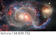 Spiral galaxy in space. Elements of this image furnished by NASA. Стоковое фото, фотограф Zoonar.com/Irina Dmitrienko / easy Fotostock / Фотобанк Лори