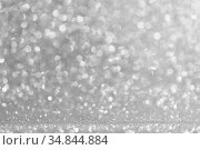 Abstract silver glitter background. Стоковое фото, фотограф Иван Михайлов / Фотобанк Лори