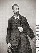 Alexandre Emile Jean Yersin, 1863 - 1943. Swiss-French physician ... Редакционное фото, фотограф Classic Vision / age Fotostock / Фотобанк Лори