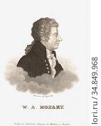 "Wolfgang Amadeus Mozart, 1756 â. "" 1791, baptised as Johannes Chrysostomus... (2020 год). Редакционное фото, фотограф Classic Vision / age Fotostock / Фотобанк Лори"