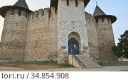 Entrance to legendary medieval fortress in Soroca at north of Moldova. Редакционное видео, видеограф Сергей Старуш / Фотобанк Лори