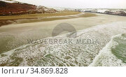 Aerial view of sea 4k. Стоковое видео, агентство Wavebreak Media / Фотобанк Лори