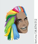 Multi coloured hair woman. Стоковое фото, агентство Wavebreak Media / Фотобанк Лори