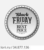 Black friday vector on badge. Стоковое фото, агентство Wavebreak Media / Фотобанк Лори