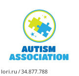 Autism association vector with jigsaw. Стоковое фото, агентство Wavebreak Media / Фотобанк Лори