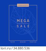 Mega sale brochure with leaf . Стоковое фото, агентство Wavebreak Media / Фотобанк Лори