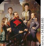 Angeli Heinrich Von - Die Familie Des Grossherzogs Von Hessen - Austrian... Редакционное фото, фотограф Artepics / age Fotostock / Фотобанк Лори