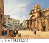 Alt Jacob - Piazza Grande Mit Der Domkirche Von Sebenico - Austrian... Редакционное фото, фотограф Artepics / age Fotostock / Фотобанк Лори