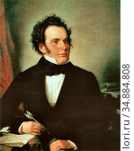 Rieder Wilhelm August - Franz Peter Schubert 2 - Austrian School - ... Редакционное фото, фотограф Artepics / age Fotostock / Фотобанк Лори