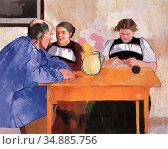 Buri Max Alfred - Brienzer Familie - Swiss School - 19th Century. Редакционное фото, фотограф Artepics / age Fotostock / Фотобанк Лори