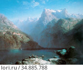 Calame Alexandre - Der Vierwaldstättersee 3 (Symphonie En Bleu) - ... Редакционное фото, фотограф Artepics / age Fotostock / Фотобанк Лори