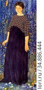 Bieler Ernest - Femme En Bleu. Portrait De Michelle Biéler - Swiss... Редакционное фото, фотограф Artepics / age Fotostock / Фотобанк Лори