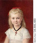 Anker Albert - Bildnis Emilie Weiss 2 - Swiss School - 19th Century. Редакционное фото, фотограф Artepics / age Fotostock / Фотобанк Лори
