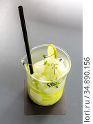 Glass of Ice Lemon Citrus Frappe. Стоковое фото, фотограф Vichaya Kiatying-Angsulee / easy Fotostock / Фотобанк Лори