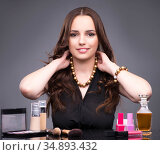 Young woman in beauty make-up concept. Стоковое фото, фотограф Elnur / Фотобанк Лори