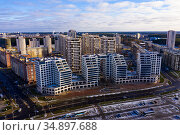 Residential areas in north-west of Minsk, Belarus. Стоковое фото, фотограф Яков Филимонов / Фотобанк Лори