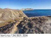 Sea lagoon and rocky mountains. Стоковое фото, фотограф Юрий Бизгаймер / Фотобанк Лори