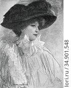 Welie Antoon Van - Sarah Bernhardt - Dutch School - 19th Century. Редакционное фото, фотограф Artepics / age Fotostock / Фотобанк Лори