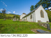 St Mary church Built around the 14th century, it stands on Bryn Glas... Стоковое фото, фотограф Liam Stanley R, Bunce / age Fotostock / Фотобанк Лори