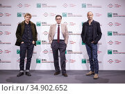 Johnny Flynn, Antonio Monda, Gabriel Range attends the photocall ... Редакционное фото, фотограф AGF AGF / age Fotostock / Фотобанк Лори