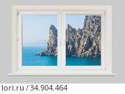 View from the window of the room on a rocky cape. Стоковое фото, фотограф Юрий Бизгаймер / Фотобанк Лори