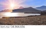 Sea lagoon in the mountains. Стоковое фото, фотограф Юрий Бизгаймер / Фотобанк Лори