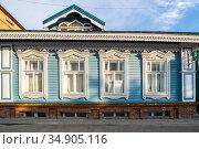 View of the street in the historical center of Kazan (2018 год). Редакционное фото, фотограф Юлия Белоусова / Фотобанк Лори