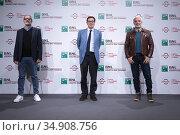Michel Ruben, Antonio Monda, Javier Fuentes Leon attends the photocall... Редакционное фото, фотограф AGF / age Fotostock / Фотобанк Лори